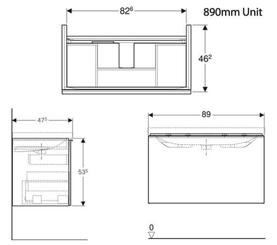 Technical drawing QS-V93753 / 500.609.01.2