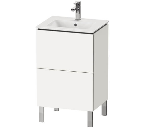 Duravit L-Cube Floor Standing 2 Drawer Vanity Unit For Me By Starck Basin