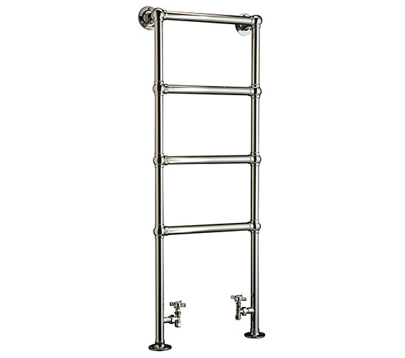 DQ Methwold Floor Mounted Chrome Heated Towel Rail 846 x 1261mm