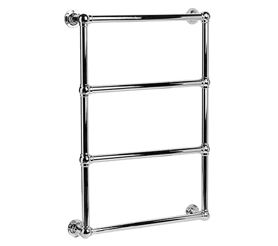 DQ Heating Methwold Wall Mounted Chrome Heated Towel Rail 846 x 1303mm