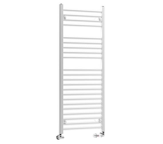 DQ Heating Metro 600 x 1500mm Straight Heated Towel Rail - White
