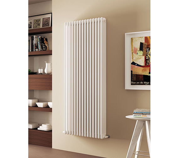 DQ Heating Modus 4 Column 400mm High White Radiator - 4 To 44 Sections