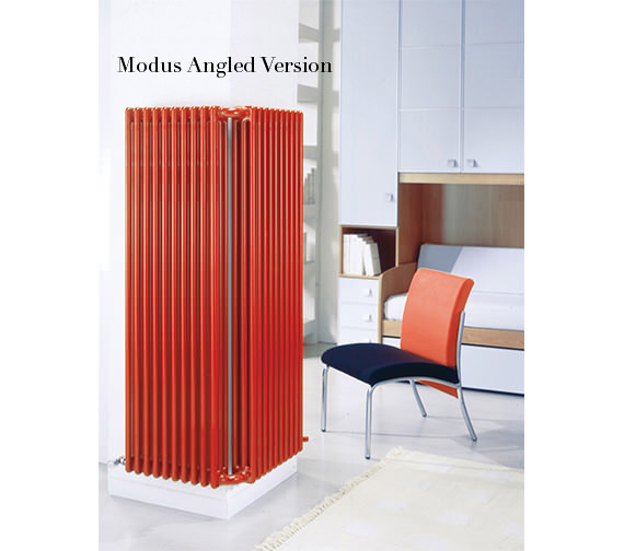 Additional image of DQ Heating Modus 4 Column 400mm High White Radiator - 4 To 44 Sections