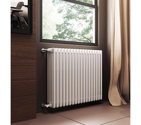 DQ Heating Modus 5 Column White Radiator 2200mm High - 4 To 44 Sections