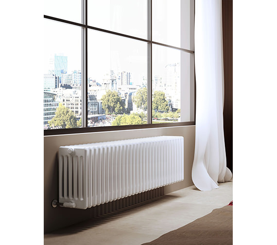 DQ Heating Modus 6 Column 2200mm High White Radiator - 4 To 44 Sections
