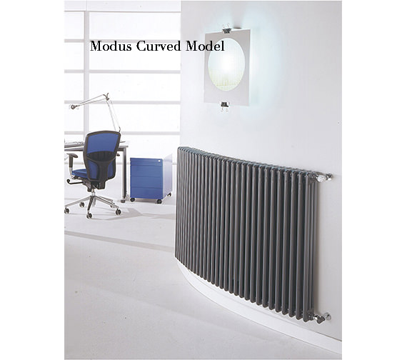 Additional image of DQ Heating Modus 3 Column 1200mm High White Radiator - 4 To 44 Sections