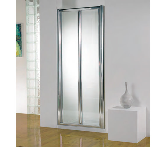 Kudos Original 800mm White Bi-fold Shower Door With Tray And Waste
