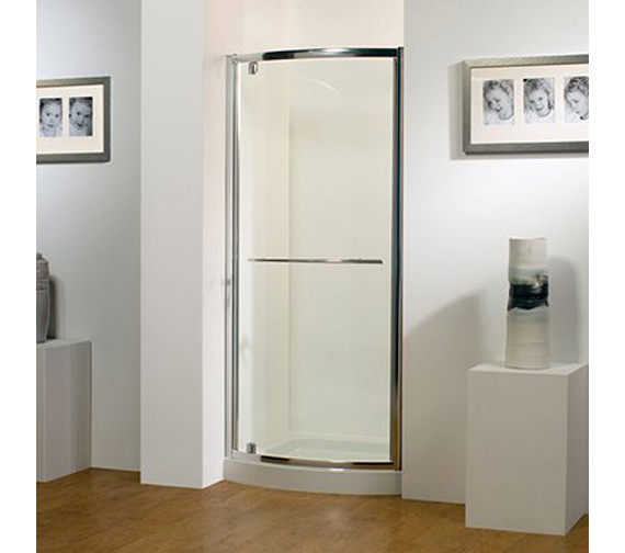 Kudos Original 800mm White Bowed Pivot Door With Tray And Waste