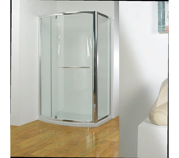 Additional image of Kudos Original 800mm White Bowed Pivot Door With Tray And Waste