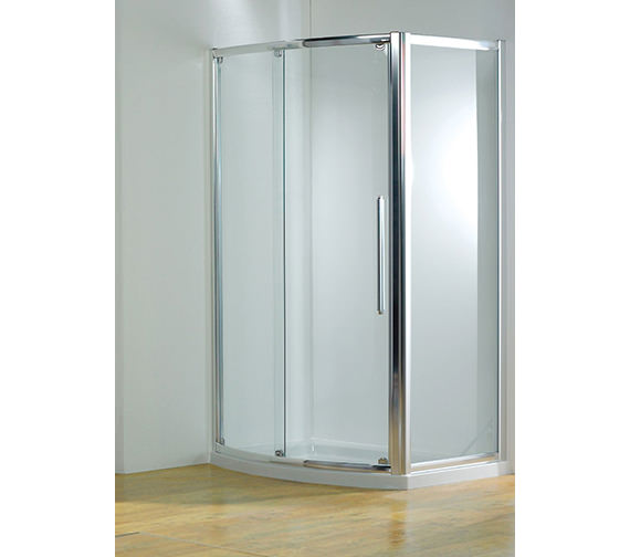 Kudos Original 1700mm Bow Fronted Slider Door With Tray And Waste