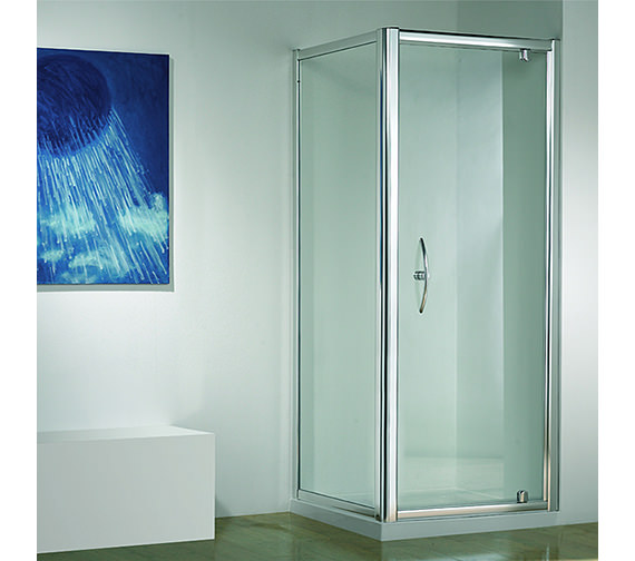 Original 760mm White Straight Pivot Door With Tray And Waste