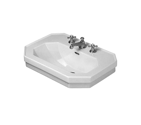 duravit 1930 series 600mm 3 tap hole washbasin 0438600030. Black Bedroom Furniture Sets. Home Design Ideas