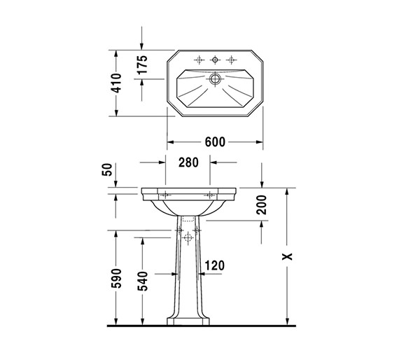 Technical drawing QS-D19301 / 0438600030