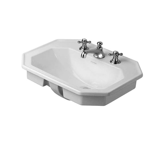 Duravit 1930 Series 580mm Countertop Vanity Basin - 3 Tap Hole