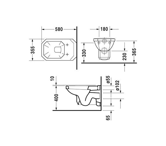 Technical drawing QS-D19307 / 0182090000