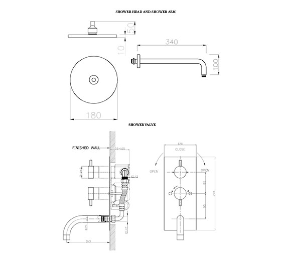 Technical drawing QS-D19329 / KL1600RC