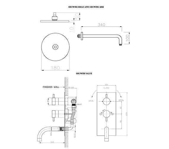 Technical drawing QS-D19329 / KL1600RC