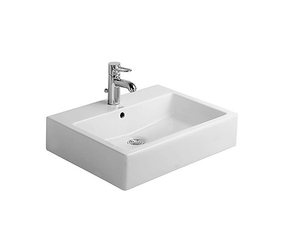 Duravit Vero White 600 x 470mm 1 Tap Hole Basin - 0454600000
