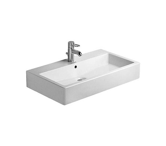 Duravit Vero 800 x 470mm 1 Tap Hole Grinded Washbasin Without Overflow