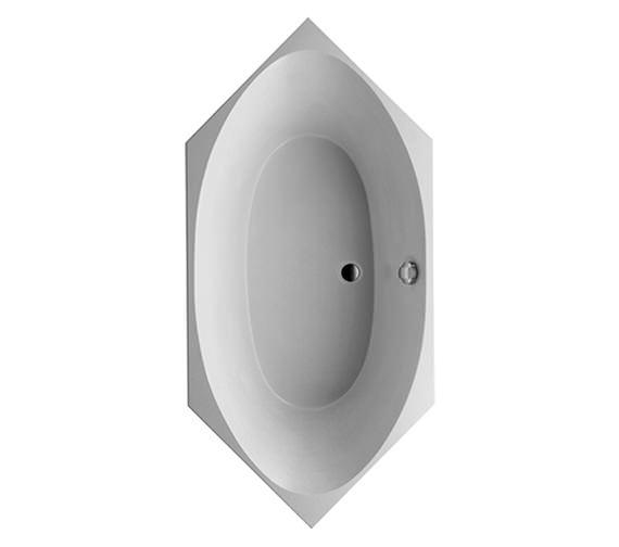 Duravit 2x3 Hexagonal 1900 x 900mm Bath With Frame - 700025