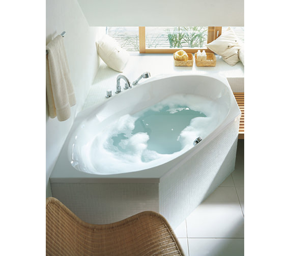 Additional image of Duravit 2x3 Hexagonal 1900 x 900mm Bath With Frame - 700025