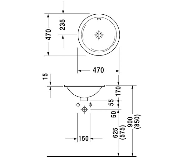 Technical drawing QS-D19348 / 0468470000