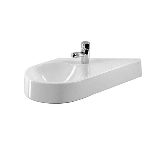 Duravit Architec Diagonal Bowl On Left Side Handrinse Basin - 0764650000
