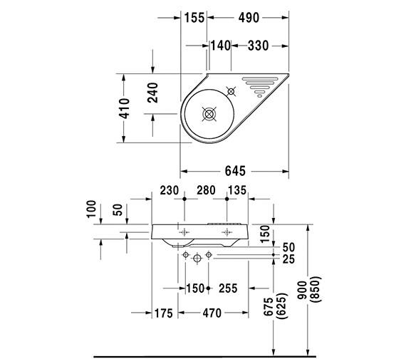 Technical drawing QS-D19357 / 0764650000