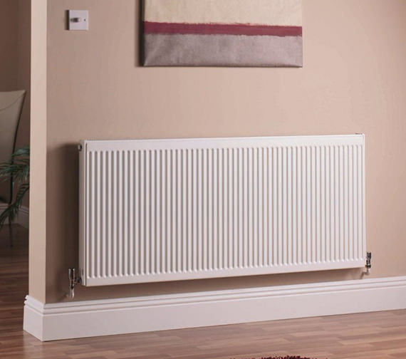 Quinn 600 x 500mm Single Panel Central Heating Radiator - Q11506KD