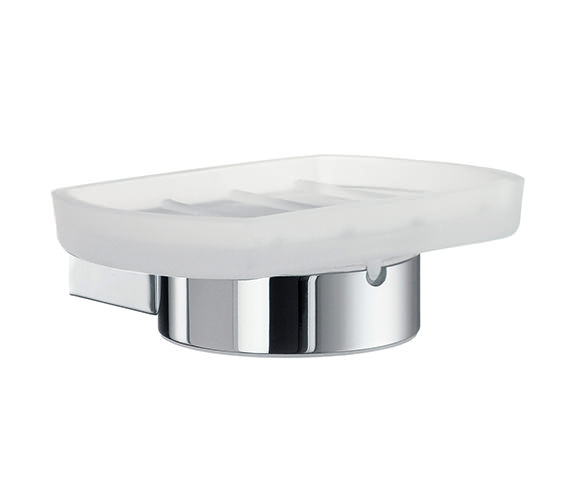 Smedbo Air Frosted Glass Soap Dish With Holder