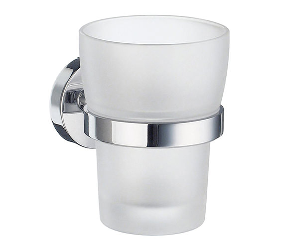 Smedbo Home Frosted Glass Tumbler With Holder - HK343