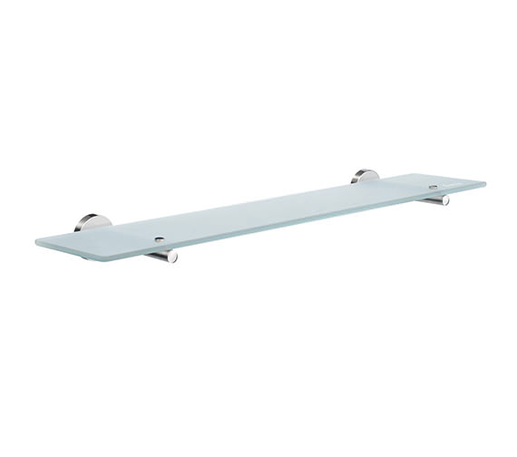 Smedbo Home 600mm Frosted Glass Bathroom Shelf