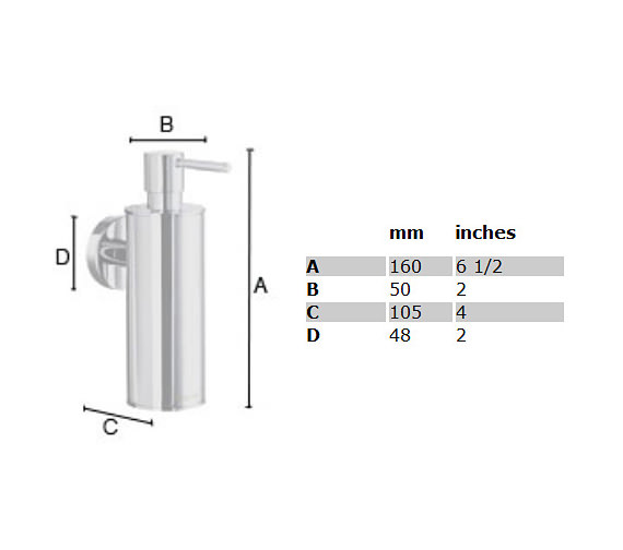 Image 2 of Smedbo Home Soap Dispenser With Holder - HK370