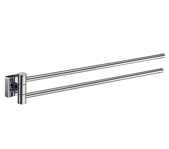 Smedbo House 440mm Polished Chrome Swing Arm Towel Rail - Brushed Chrome Finish Available