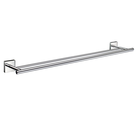 Smedbo House 648mm Polished Chrome Double Towel Rail - Brushed Chrome Finish Available