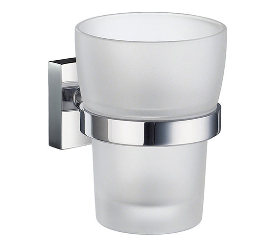 Smedbo House Frosted Glass Tumbler With Holder - RK343