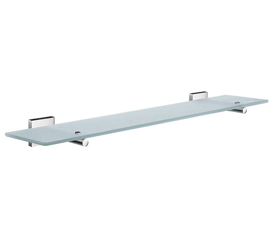 Smedbo House 600mm Frosted Glass Bathroom Shelf
