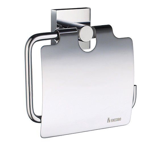 Smedbo House Toilet Roll Holder With Cover - RK3414