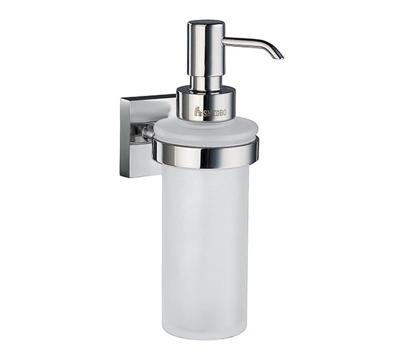 Smedbo House Frosted Glass Soap Dispenser With Holder - RK369