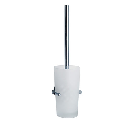 Smedbo Loft Wall Mounted Toilet Brush With Glass Container
