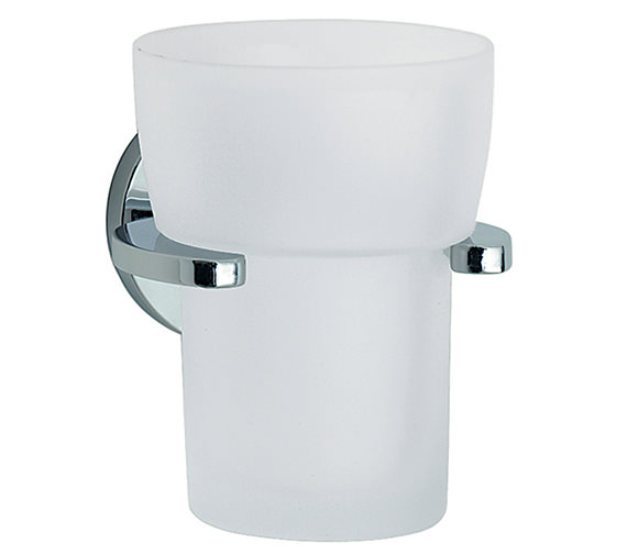 Smedbo Loft Frosted Glass Tumbler With Holder