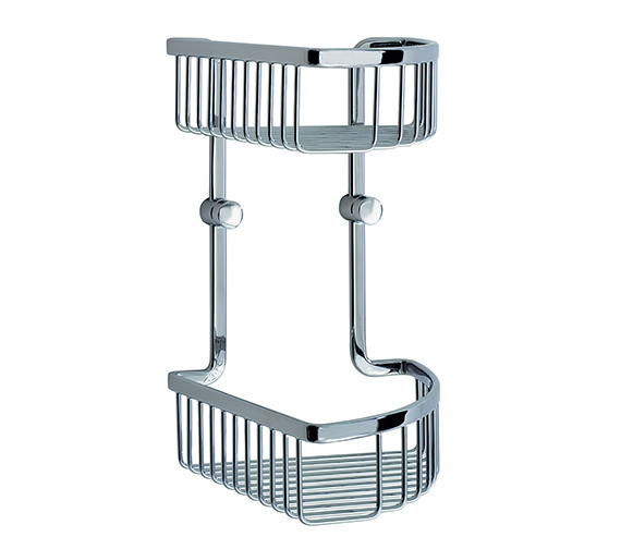 Smedbo Loft Corner Soap Basket Double - LK377