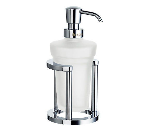 Smedbo Outline Free Standing Glass Soap Dispenser With Holder