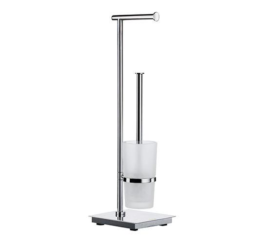 Smedbo Outline Lite Toilet Roll Holder And Toilet Brush Square Base