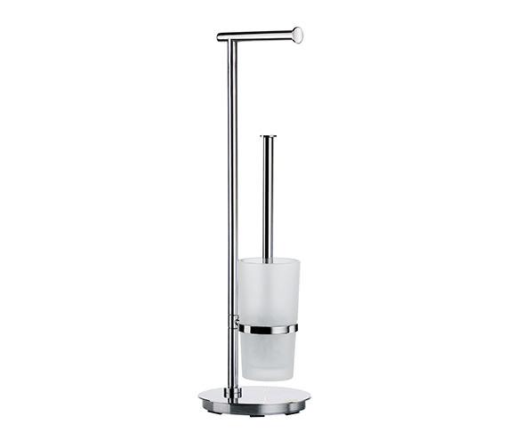 Smedbo Outline Lite Toilet Roll Holder And Toilet Brush Round Base