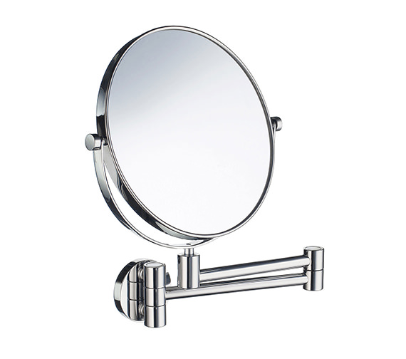 Smedbo Outline Swing Arm Shaving And Make-Up Mirror Round - FK438