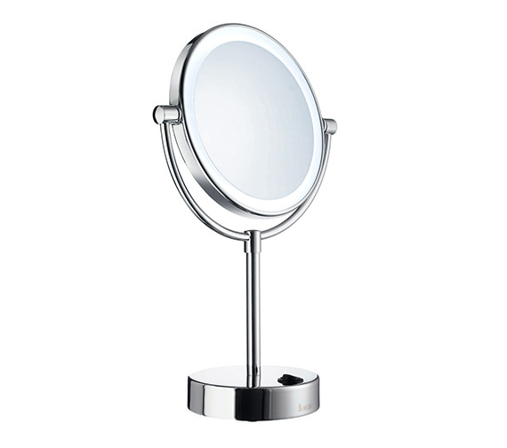 Smedbo Outline Free Standing LED Shaving And Make-Up Mirror - FK474