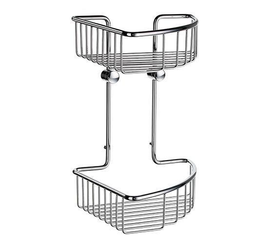 Smedbo Sideline Soap Basket Corner 2 Level 207 x 207mm - DK1022
