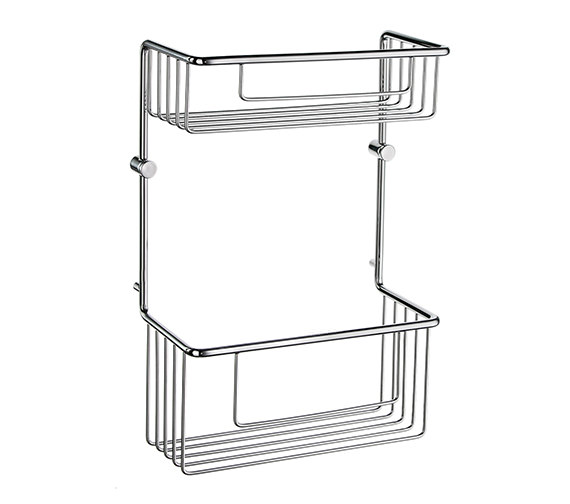 Smedbo Sideline 320mm High Soap Basket Straight 2 Level