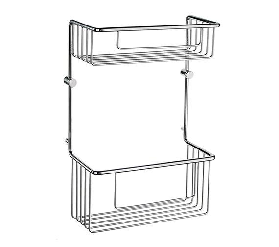 Smedbo Sideline Soap Basket Straight 2 Level 320mm High - DK1031